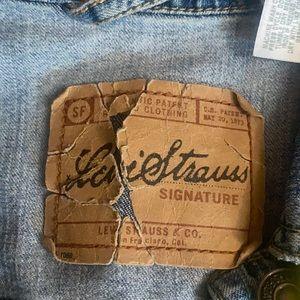LEVI'S Vintage Style Blue Jean Jacket (S)